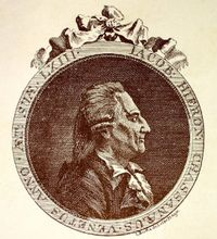 Giacomo Casanova in 1788, the year Icosameron was published