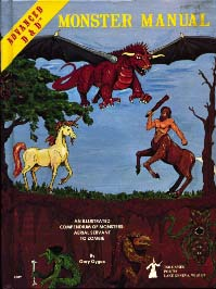 Cover Scan of the Advanced Dungeons and Dragons Monster Manual, 1st Edition