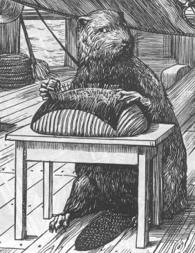 The Beaver kept looking the opposite way / And appeared unaccountably shy.