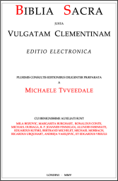 Title page of the Clementine Vulgate, Electronic Edition
